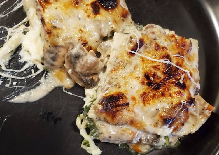 Vegetable Lasagna with White Sauce