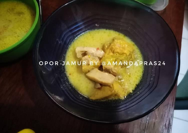 45. Opor Jamur Tiram Bumbu Kuning
