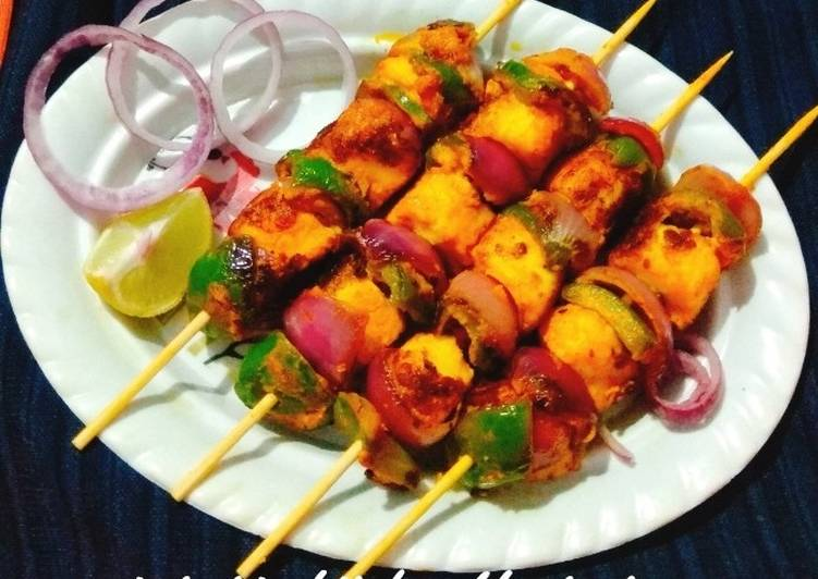 20 Minute Dinner Easy Quick Paneer Tikka|| How to prepare Paneer Tikka on pan