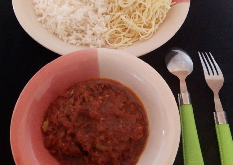 Rice And Spaghetti With Fish Soup Recipe By Rafsy Kitchen Cookpad