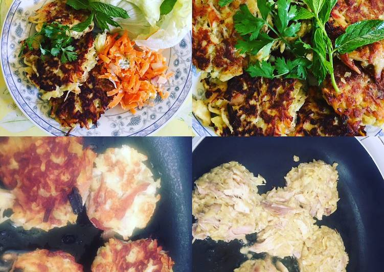 Patate douce, Poulet, Salade, Sauce au yaourt Healthy -Diet