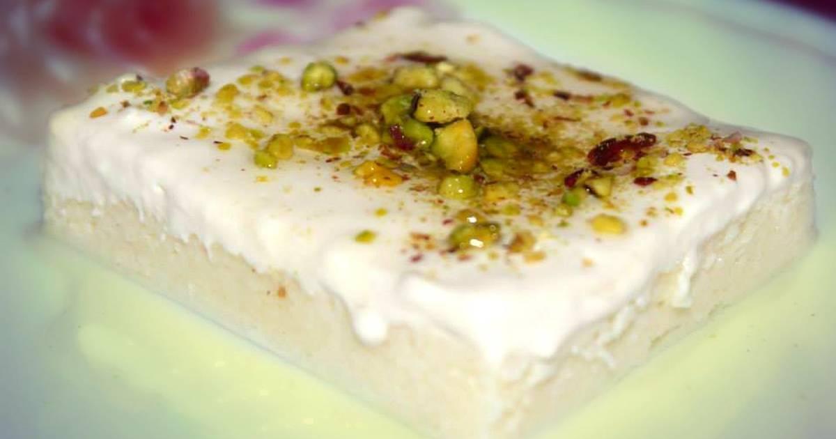 طريقة عمل حلى ليالي لبنان بالسميد بالصور من Elegant Cooking كوكباد