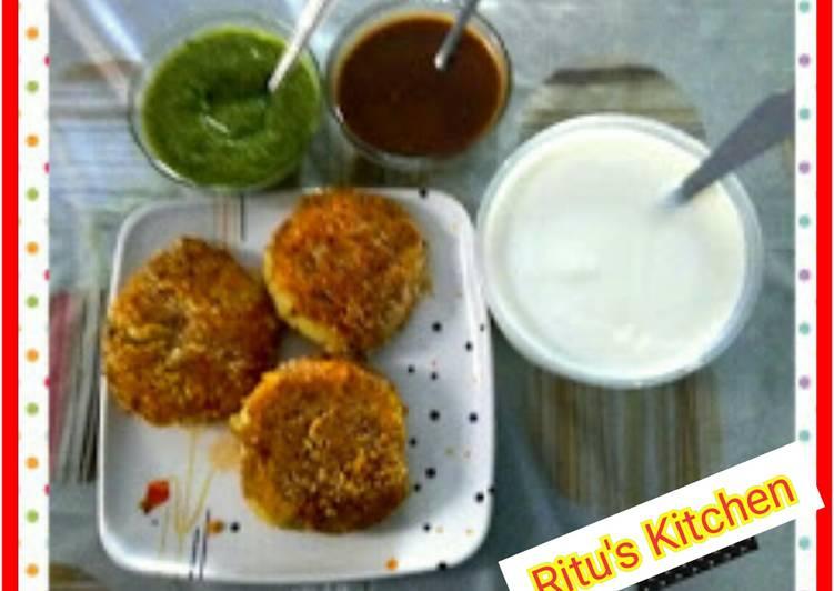 Aloo Peanut Tikki (Patties) Recipe
