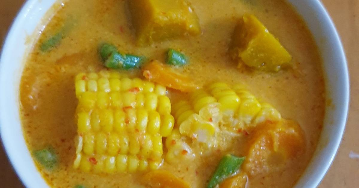 Resep Sayur Santan Labu Kuning Jagung Oleh Lukz Kitchen Cookpad