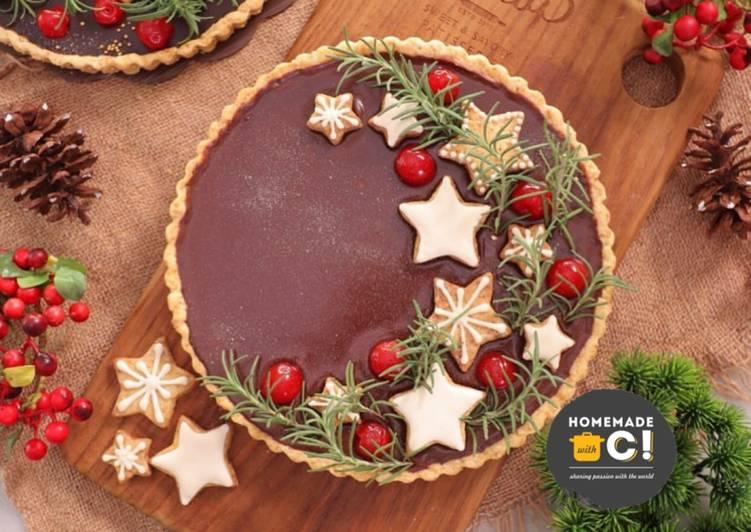 Homemade Espresso Chocolate Tart (Christmas Edition)