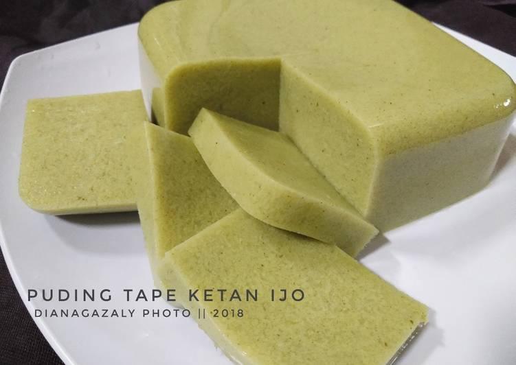 Puding Tape Ketan Ijo