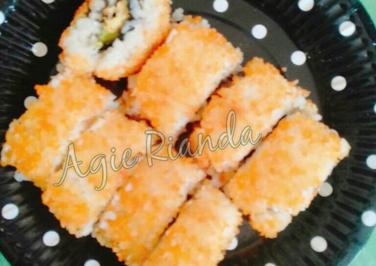 Deep fried egg sushi – Resep membuatnya