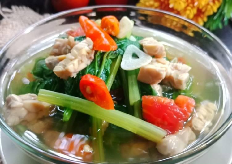 Sayur Sawi Tempe (Sayur sehat tanpa minyak)