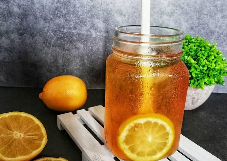 Teh O Ais Lemon #marathonraya #minuman #minggu2 - resepipouler.com