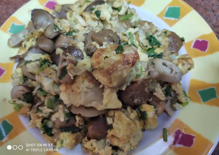 Vegetarian Oh jian (oyster omelette)