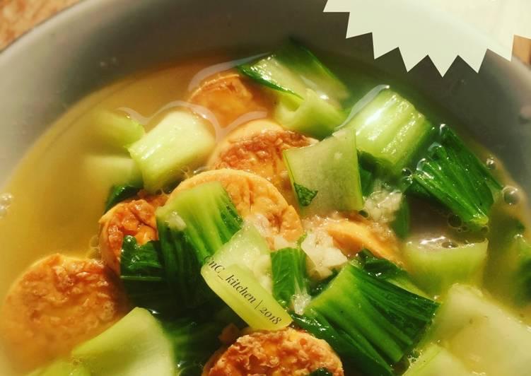 Pokcoy mix Tofu Tumis bawang putih