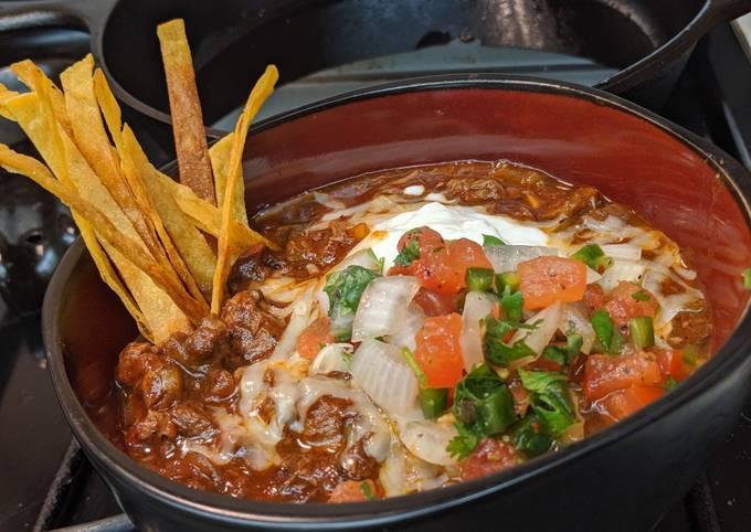 Tex-Mex inspired brisket chili