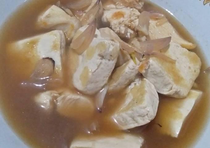 Ayam Tahu Saus Mentega untuk diet