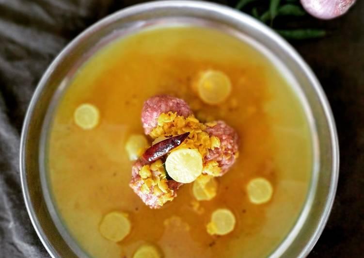 Simple Way to Prepare Award-winning Ragi Mudde with brown rice and moolangi sambar