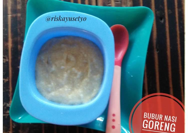 Bubur nasi goreng ayam & telur untuk mpasi 6+