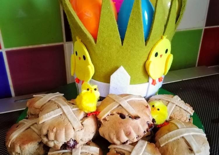 Vickys Easter Hot Cross Scones, GF DF EF SF NF