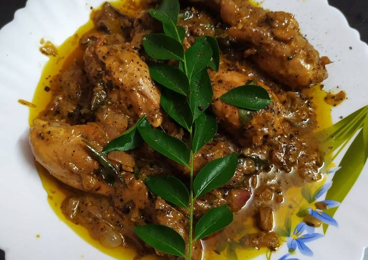 Recipe of Ultimate Black pepper and curry leaves chicken