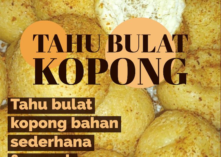 Tahu Bulat Kopong Mudah - cookandrecipe.com