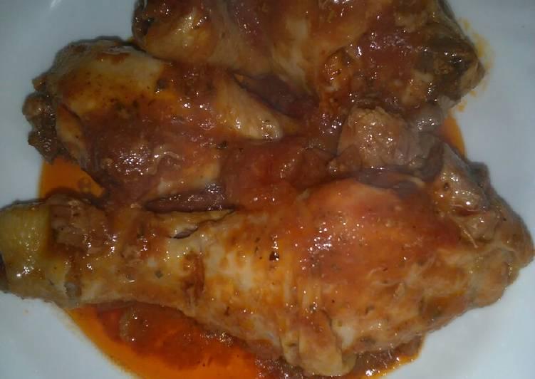 Ricetta Cosciotto di pollo alla pizzaiola 😋