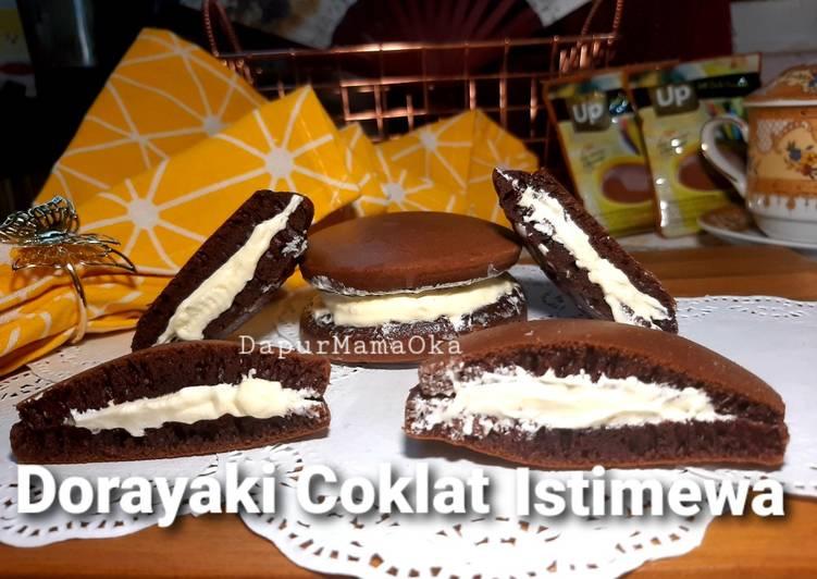 Dorayaki Coklat Istimewa Pake Bahan Biskuit