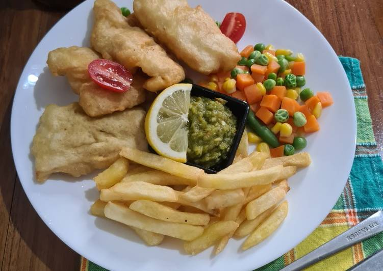 Fish and Chips Sambal Ijo
