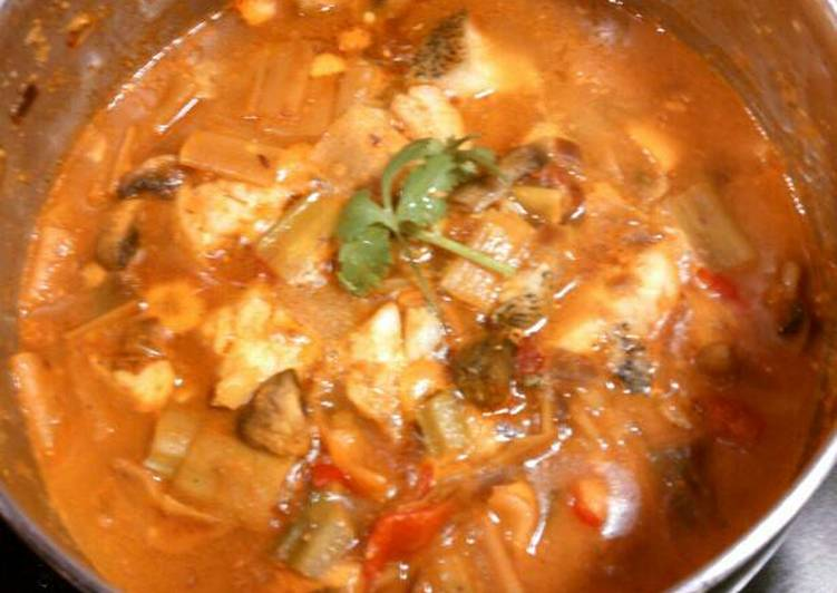 Recipe: Delicious Indian style fish curry #anti inflammation# 黑线鳕咖喱