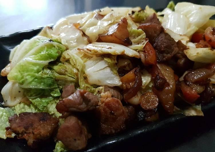 Stir Fried Pechay (Napa Cabbage)