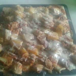 Canelones de acelga con estofado de pollo ♡