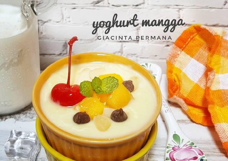 Yoghurt home made topping mangga