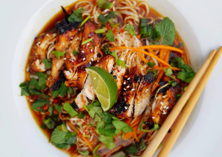 Recipe of Most Popular Teriyaki Chicken Noodle Soup
