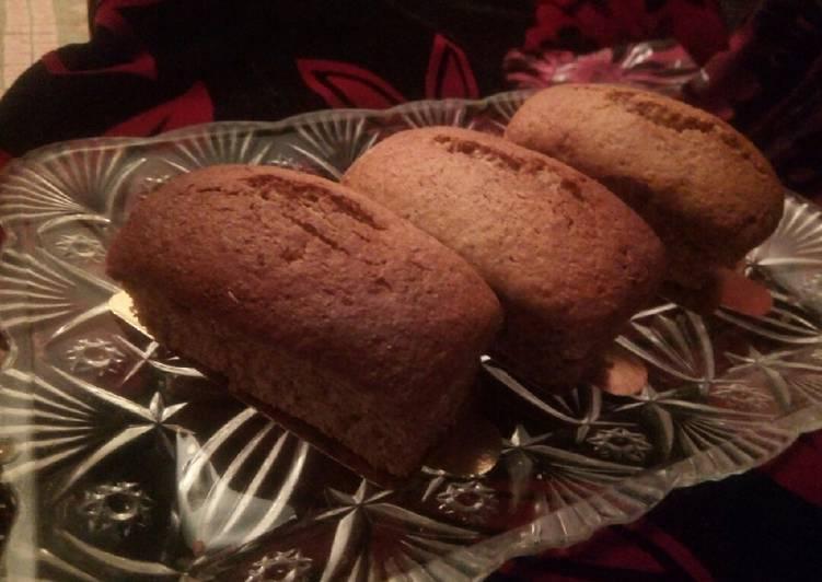 Mini cake au poudre de caroubier