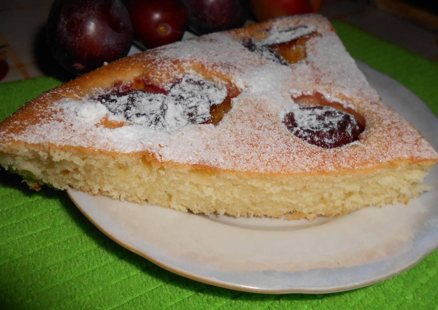 Бисквит со сливой рецепт с фото