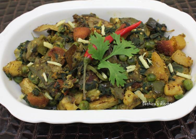 Going Green for Good Health By Dining Superfoods, Kumro Shaag Chorchori (Pumpkin Leaves Curry)
