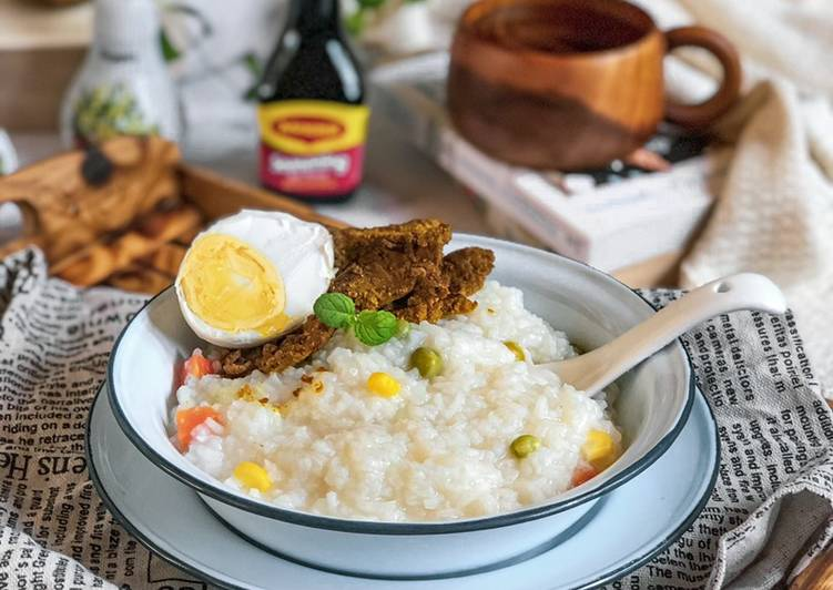 Bubur nasi biasa - resepipouler.com