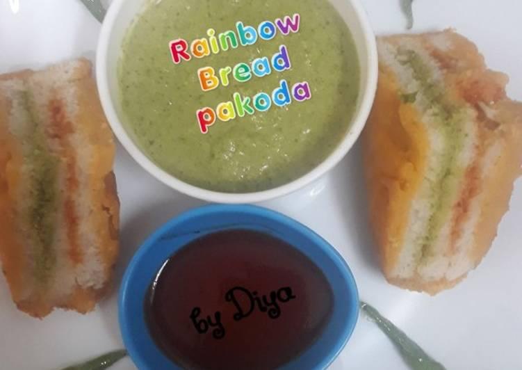 10 Minute Dinner Easy Winter Rainbow Bread Pakoda