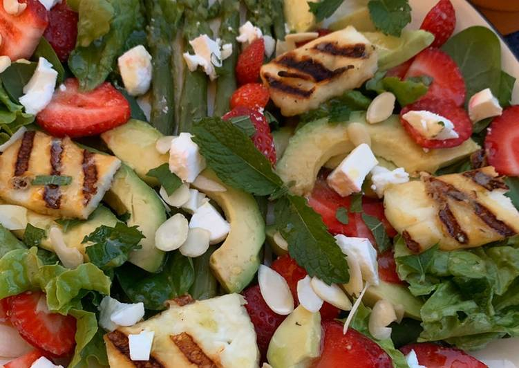 Recette De Salade printanière aux fraises