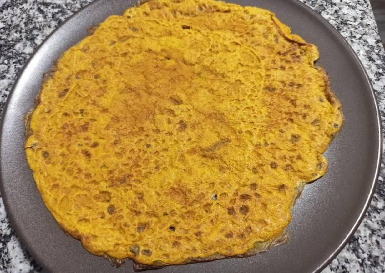 Receta fácil: Apetitoso Crepe de trigo sarraceno y cúrcuma