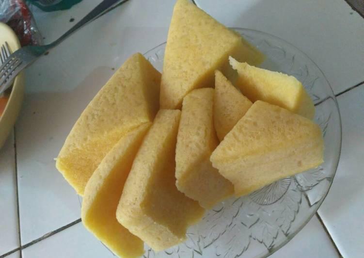 cara buat Bosuke kukus (bolu susu keju) - Sajian Dapur Bunda