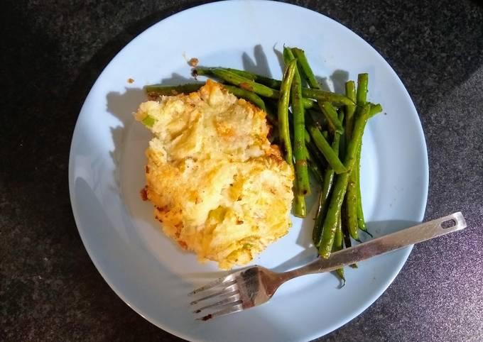 Lamb with mashed potato