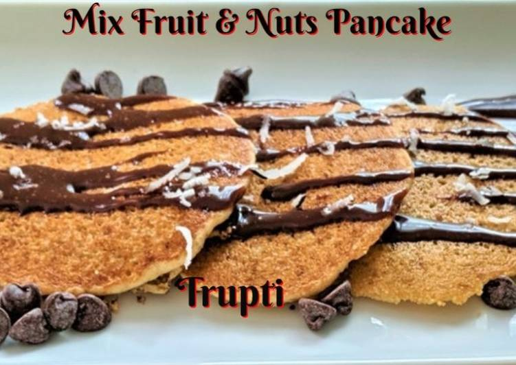 Healthy Pancakes - Mix Fruit & Nuts