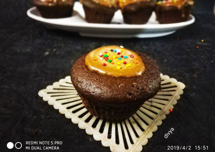 Recipe of Any-night-of-the-week Mochi Mochi chaco cup cakes