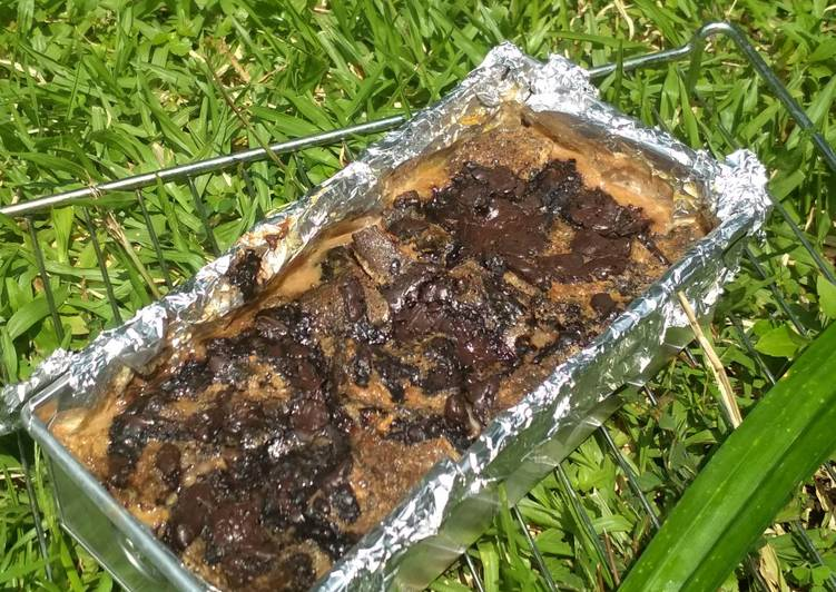 resep cara mengolah Bake Pudding Choco Banana