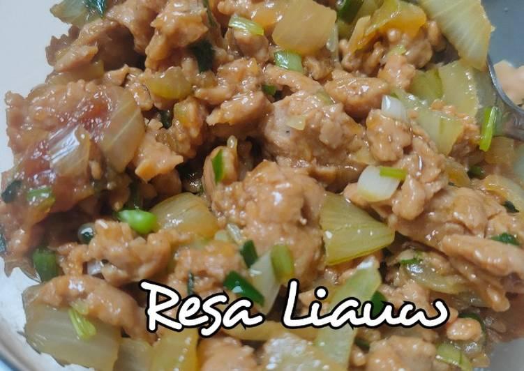 Resep Isian Ayam • bisa untuk bakpao, mie ayam, lauk, roti irit anti gagal