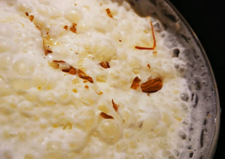 Saffron nutty milk shake