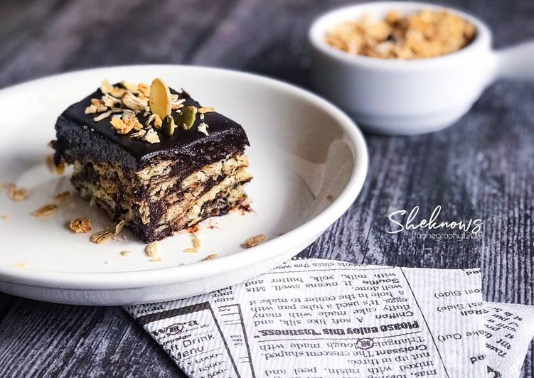 Resepi: Kek Batik Granola Simple