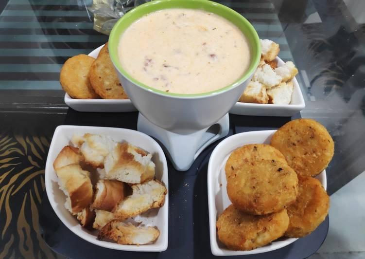 10 Minute Easiest Way to Make Love Cheese fondue
