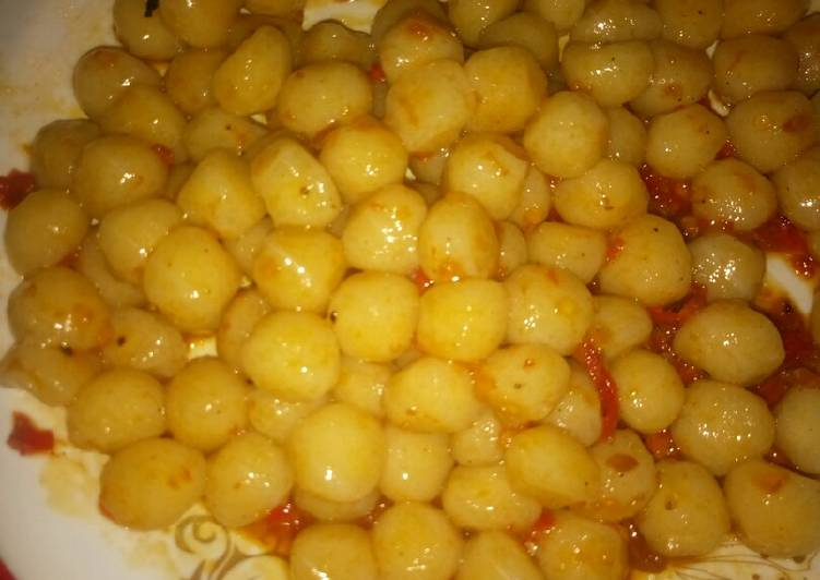Recipe of Favorite Dan malele (cassava flour balls)
