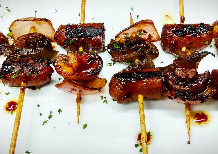 Party sausage and Jalapeno skewers