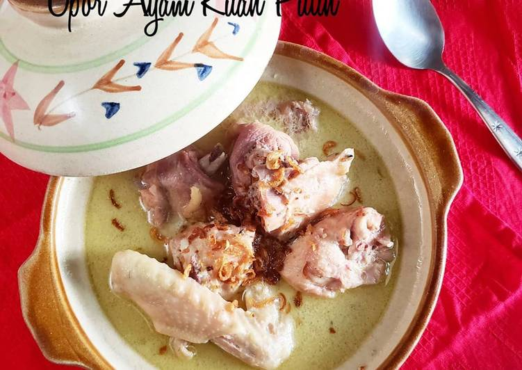 Opor ayam kuah putih