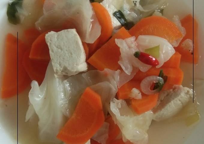 Tumis kol tahu wortel (defisit kalori)